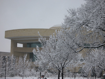 The National Museum of the American Indian on a snowy December day