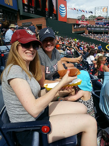 hot dogs at the baseball game