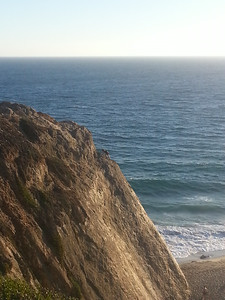 Rock climbing at Point Dume Start Park