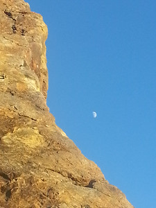 The moon at Pointe Dume State Park in Malibu
