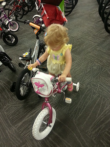 First attempt on a bike! at REI